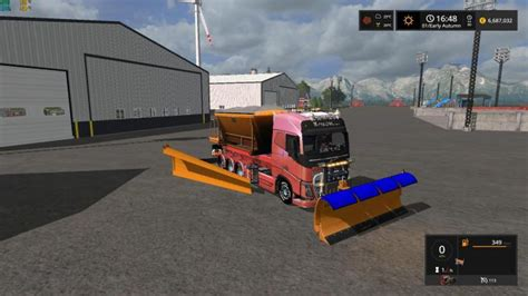 Snow Truck With Snowblades And Sander V1