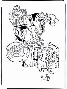 Schwammkopf Auf Motorrad Malvorlagen Spongebob