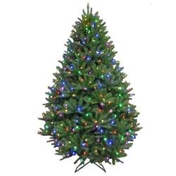 7 5 ft pre lit led california cedar artificial tree with color changing rgb lights
