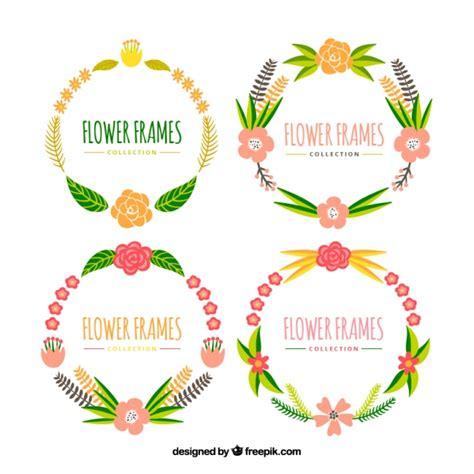 cornici con fiori cornici con fiori colorati scaricare vettori gratis