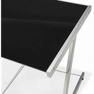 Bureau Angle Verre : bureau d 39 angle design rovigo en verre et m tal noir ~ Teatrodelosmanantiales.com Idées de Décoration