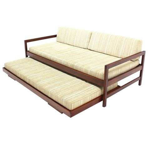 bed frame parts mid century size daybed frame with trundle design