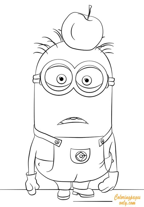 apple head tom minion coloring page  coloring pages