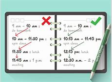How to Make a Schedule with Pictures wikiHow