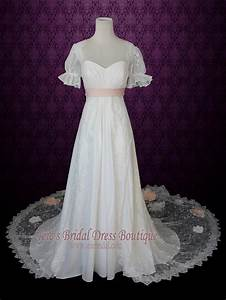 1920s regency style empire lace wedding dress with sleeves With regency style wedding dress