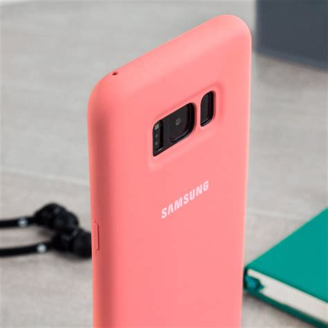 official samsung galaxy silicone cover case pink