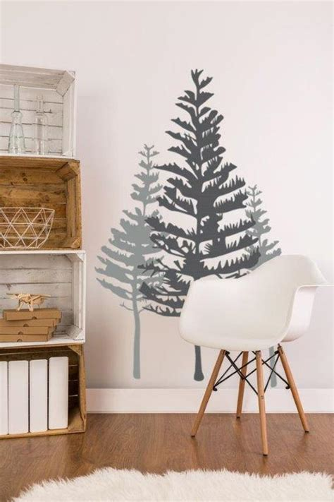 tree wall decal rustic wall decor woodland wall decor pine