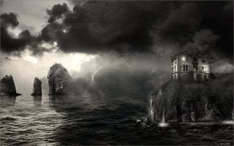 Manipulation cg digital art ocean sea mood creepy spooky