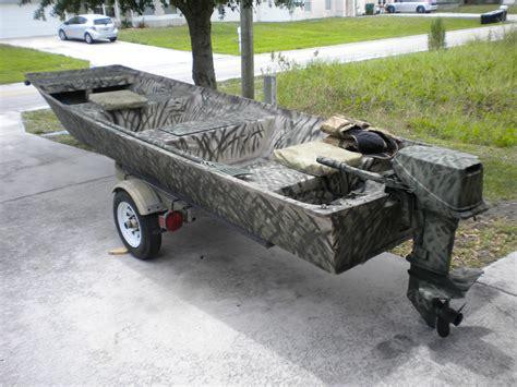 Flat Bottom Jon Boat With Motor by Sears 14 Foot Flat Bottom Jon Boat 2000 For Sale For