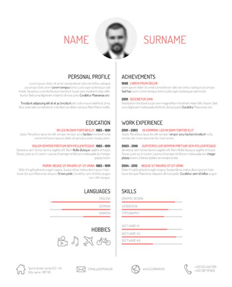 creative resume template design vectors 01 vector