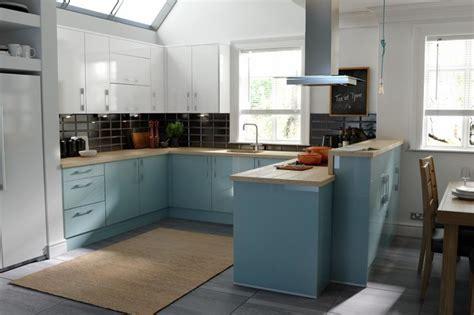 Cream Gloss Kitchens Ideas - wren kitchens pacrylic blue quartz