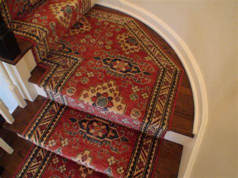 Oriental Runner Rugs by Custom Hand Knotted Oriental Stair Runner Installed On