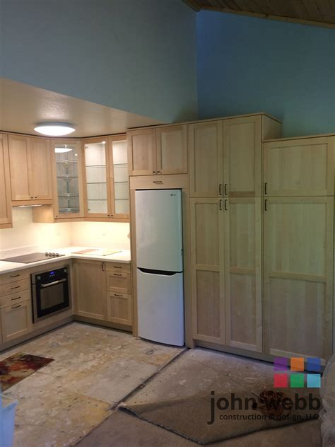 cabinet in the kitchen sw barnes road ikea shaker cabinets in solid birch 5066