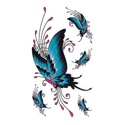 xcm watercolor butterfly temporary tattoo sticker