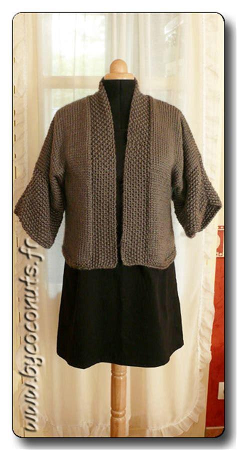 tuto tricot gilet kimono femme tutoriel couture  tricot
