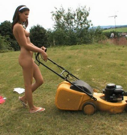 Mowing Grass Naked The Bunny Ranch Blog