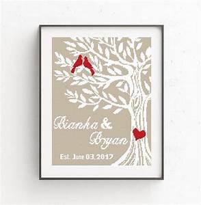 Crochet Stitch Chart Printable Wedding Cross Stitch Pattern Love Birds Tree Of Life Mr