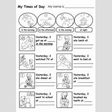 Sequence Times Of The Day Worksheet  Printable Time Of Day Worksheets  Pdf Sciencess