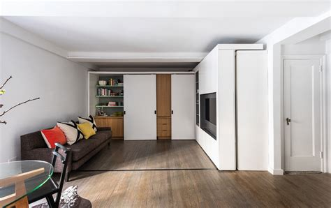 Micro Home Design A Tiny Apartment With Just 18 Square Meter Area 200 Square by A Sliding Storage Wall Morph This Micro Apartment