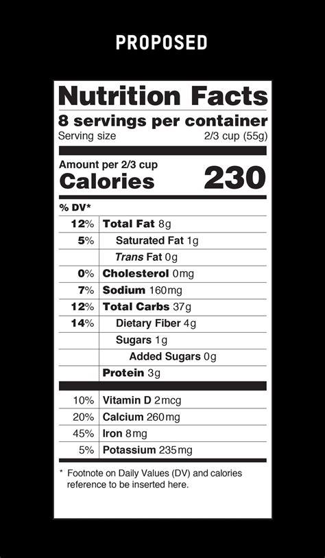 fda nutrition label sized servings fda proposes major food label rev nbc news