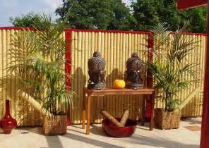 blickschutz balkon bambus zaunelemente moderner sichtschutz
