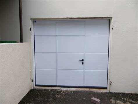 porte de garage sectionnelle hormann avec portillon la