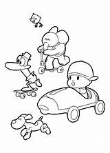 Pocoyo Coloring Pages Gold Rush Friends California Colouring Print Getcolorings Printable Sheets sketch template