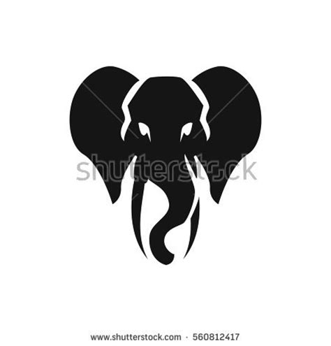 elephant silhouette front elephant silhouette stock images royalty free images