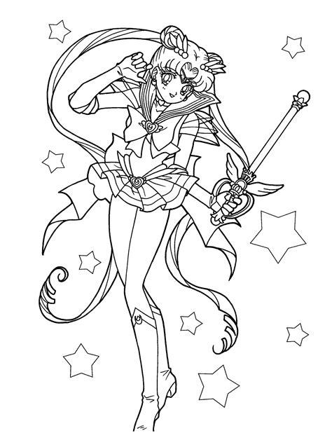 dibujos de sailor moon para colorear pintar e imprimir gratis