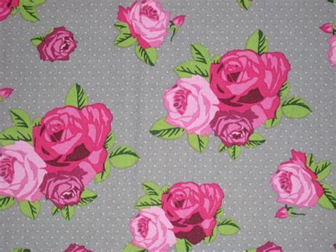 shabby chic fabric grey pink roses on gray shabby chic fabric 1 2 yard ready to ship from stitch4dreams on etsy studio