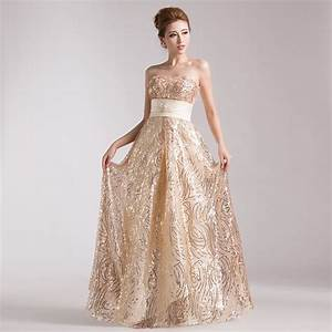Champagne gold evening dress 2014 fall new arrival long for Champagne gold wedding dress
