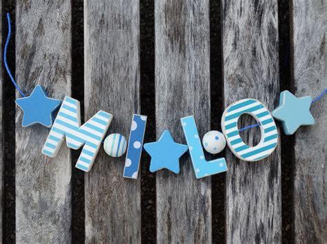 Deko Artikel Kinderzimmer by Quot Milo Quot Namenskette Shabby Chic Holz Buchstaben