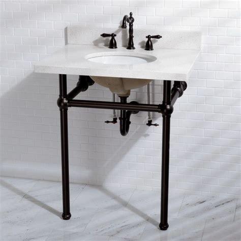 pedestal sink with metal legs white quartz 30 inch wall mount pedestal bathroom sink