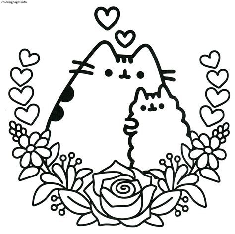 Selected Coloring Pages Of Nyan Cat Pusheen BestFree
