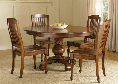 chestnut finish dining room  pedestal table woptions
