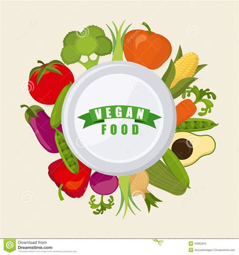 alimento vegano alimento vegano illustrazione vettoriale