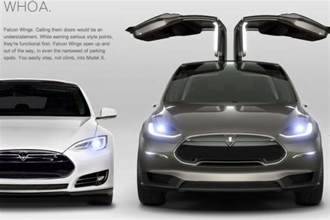 Cars With Wing Doors : Falcon Wing Doors On 2016 Tesla Model X Not Scrapped, Ceo