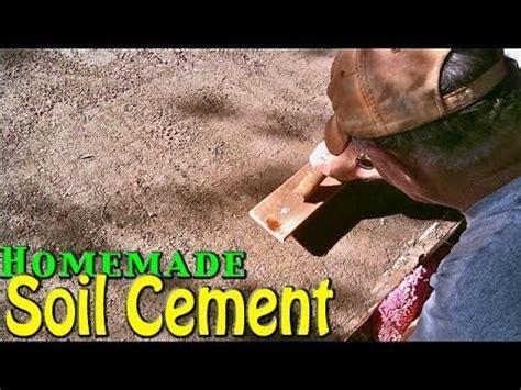 dirt garage floor cover soil cement simple cheap home application