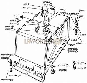 Fuel Tank - All 88in    109in 4cyl  Except Sw  - Up To Vehicle Suffix  U0026 39 B U0026 39  Inclusive