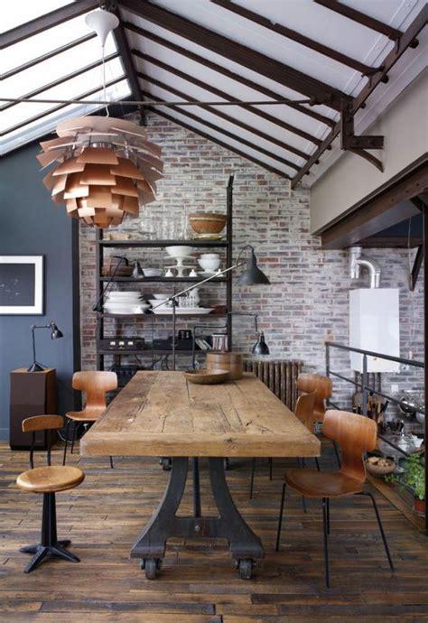 cuisine ambiance bistrot l 39 aménagement d 39 une salle à manger style industriel en 48 photos archzine fr