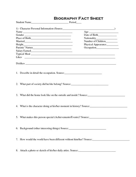 bio sheet template   aashe