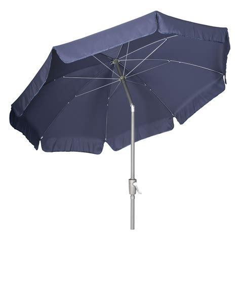 2 7m garden parasol navy umbrella aluminium tilting pole