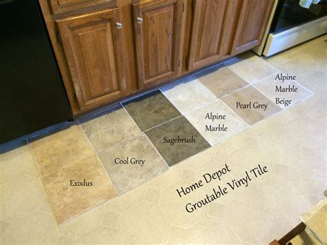 groutable vinyl floor tiles home depot looking for kitchen flooring ideas found groutable vinyl