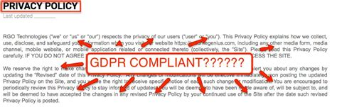 gdpr compliant privacy policy template the eu s general data protection regulation compliance guide termly