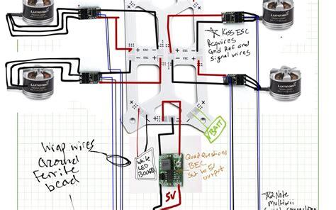 lumenier qav250 quadcopter wiring diagram for naze32 escs and bec