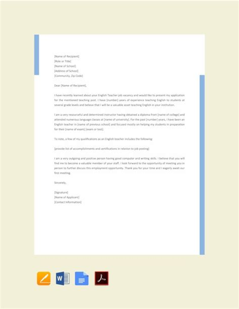 Jun 14, 1999 · the following is a list of the information you should provide in your letter of application: 29+ Job Application Letter Examples - PDF, DOC | Free ...