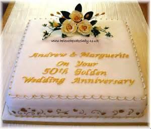 Square 50th Wedding Anniversary Cake Ideas