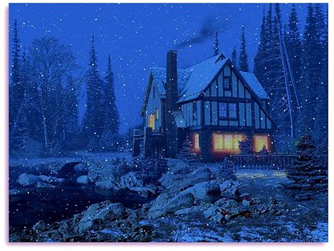 Snowy Cottage Animated Wallpaper - best 25 animated wallpaper ideas on