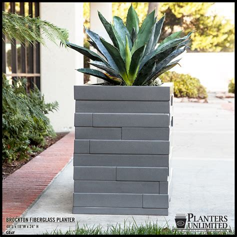 Square Outdoor Planters by Fiberglass Commercial Planters Square Outdoor