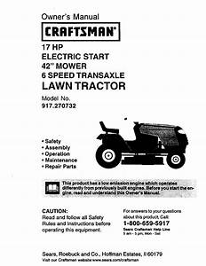 Craftsman Lawn Mower 917 270732 User Guide